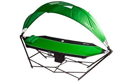 All-in-One Polyester Camping Hammock Upholstery: Ireland Green