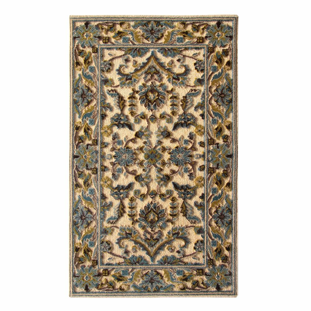 Tribal Council Teal/Beige Area Rug Rug Size: 5' x 8'