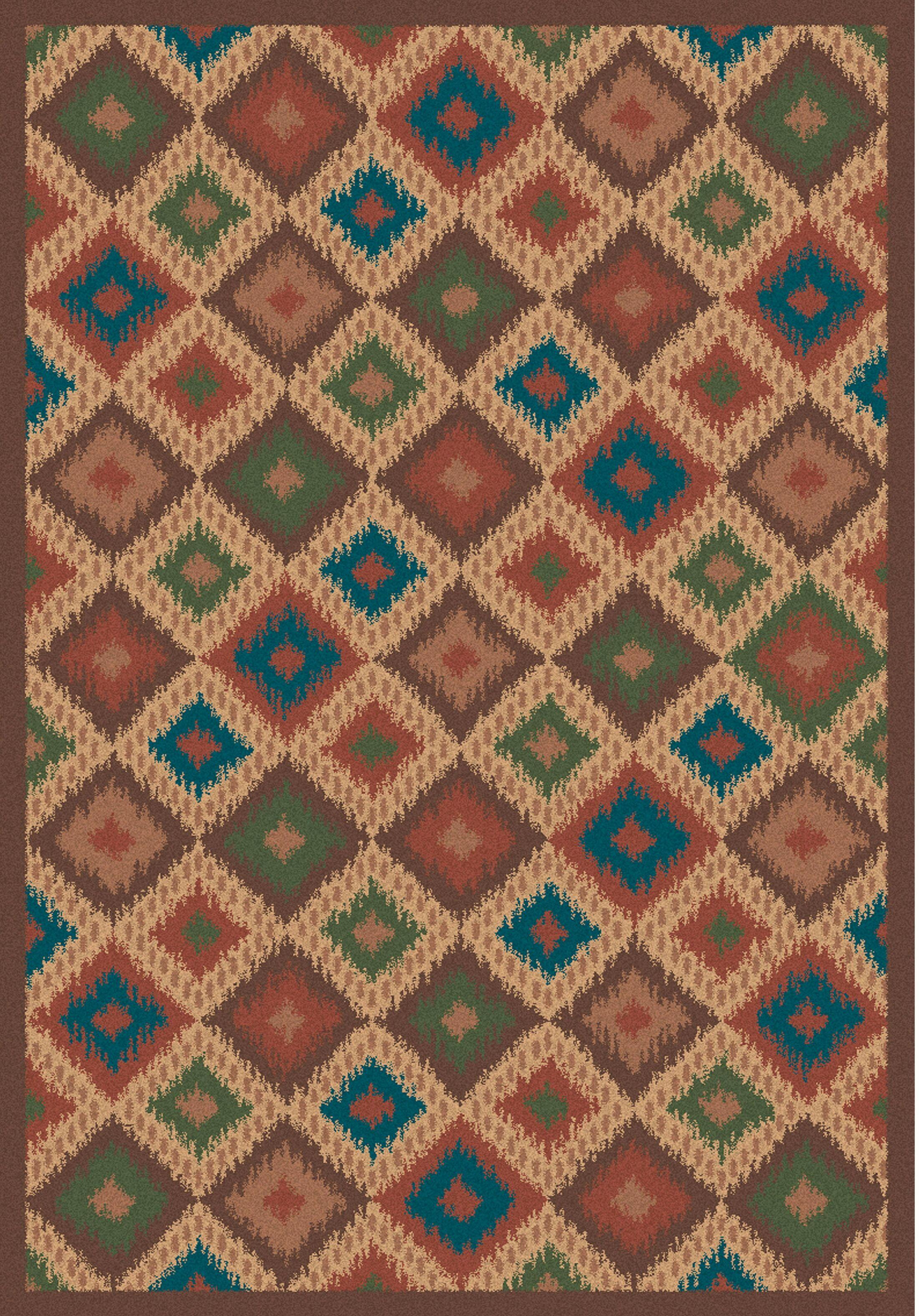 Wellington Ikat Multicolor Rug Rug Size: 3' x 5'