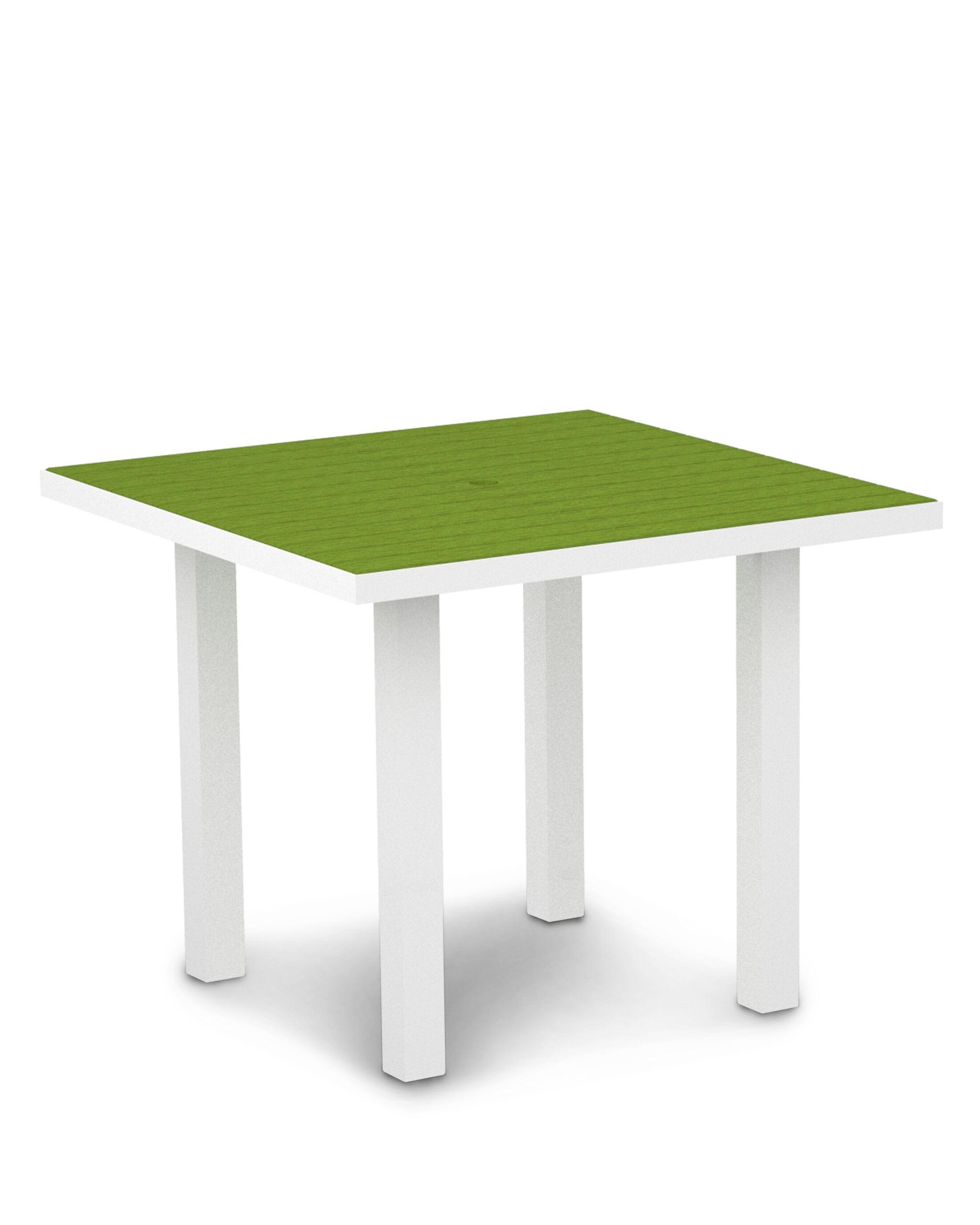 Euro Dining Table Finish: Textured White Aluminum Frame / Lime