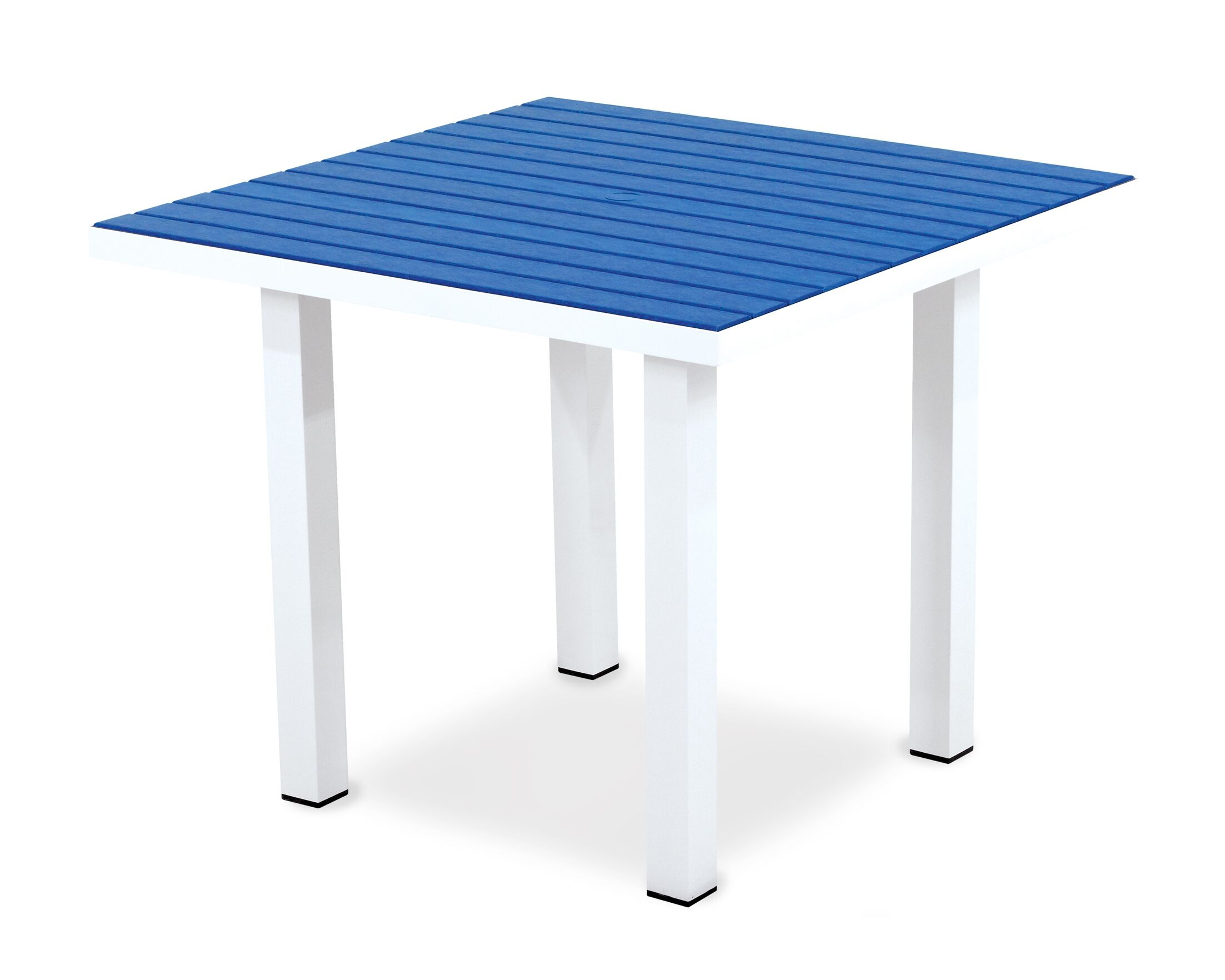 Euro Dining Table Finish: Textured White Aluminum Frame / Pacific Blue
