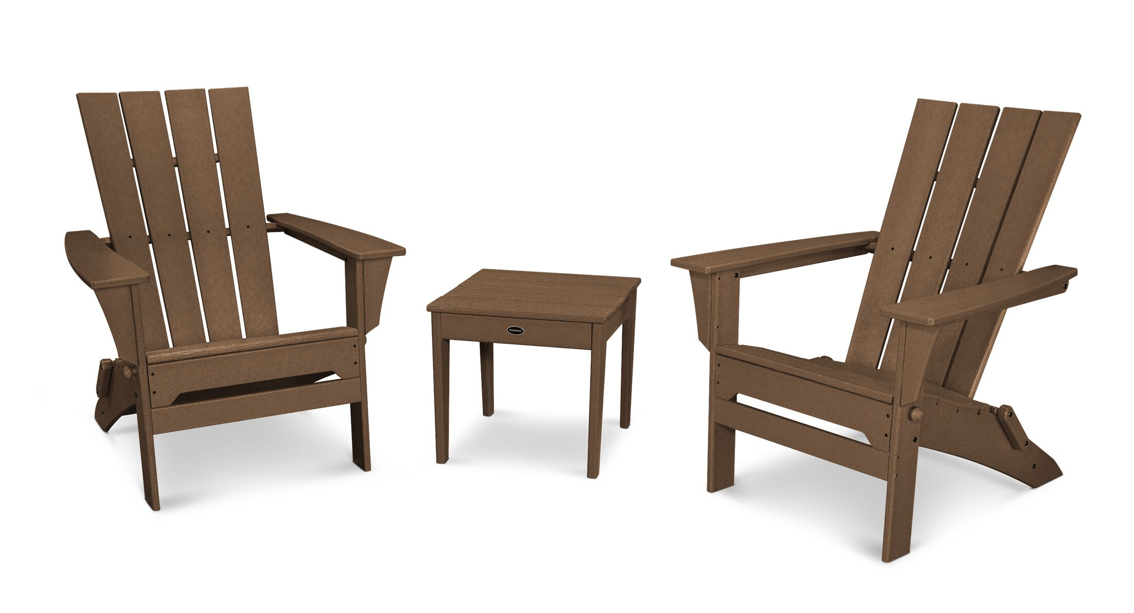 Quattro 3 Piece Conversation Set Color: Teak