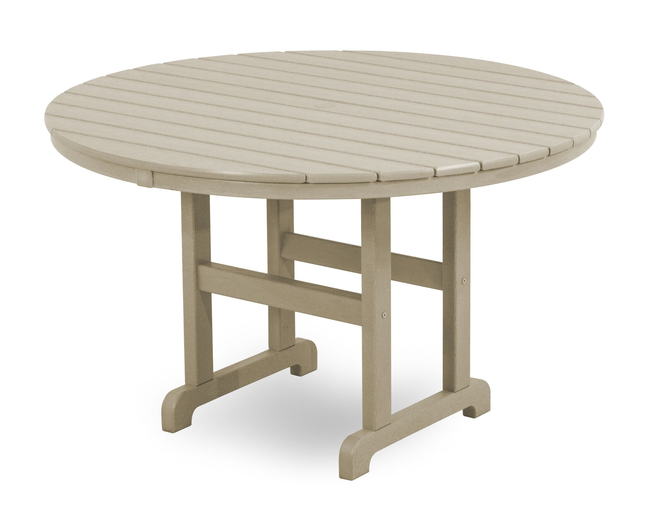 Round Dining Table Finish: Sand, Table Size: 36
