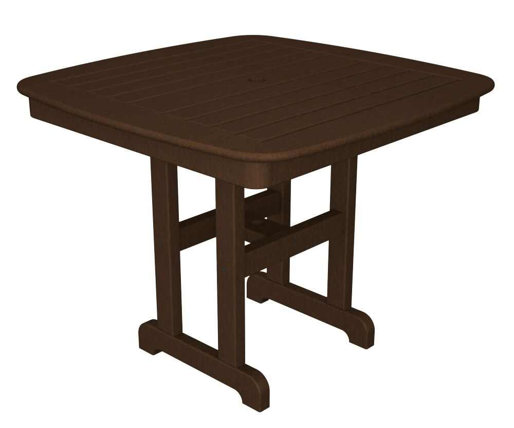 Nautical Dining Table Finish: Mahogany, Size: 37