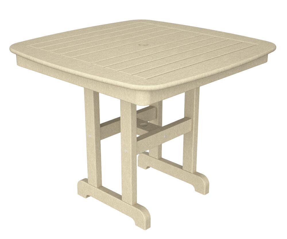 Nautical Dining Table Finish: Sand, Size: 37