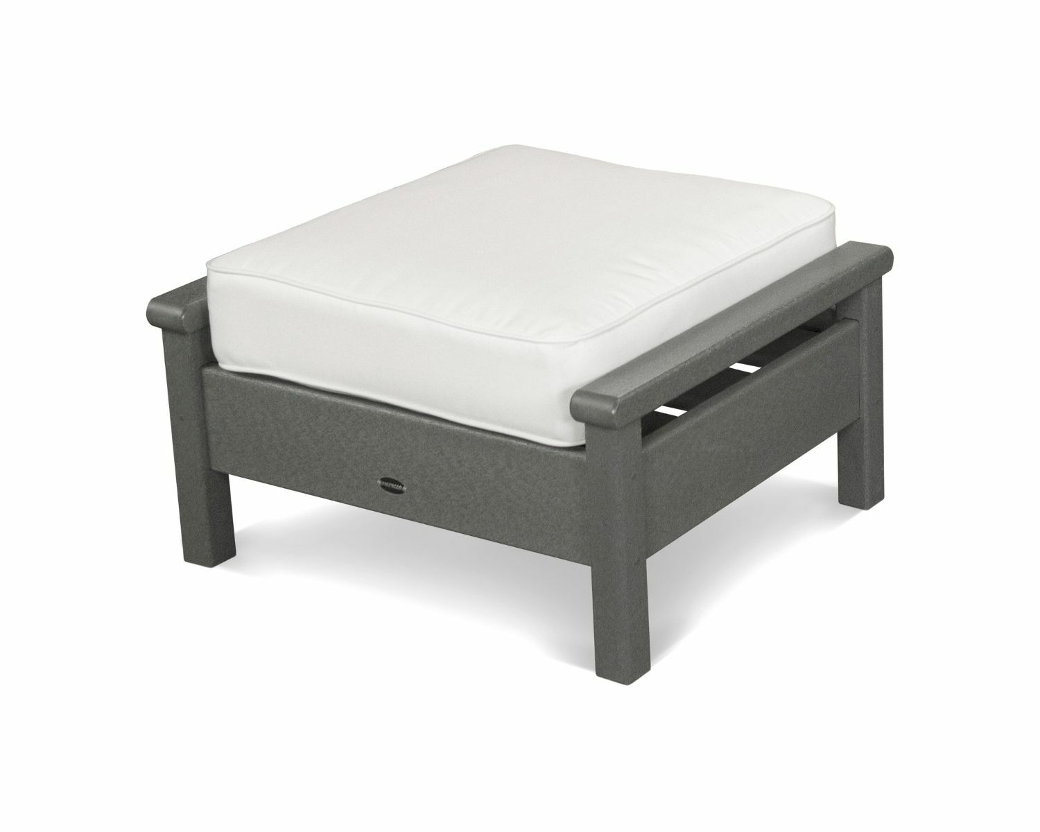 Harbour Ottoman with Cushion Finish: Slate Grey, Fabric: Natural
