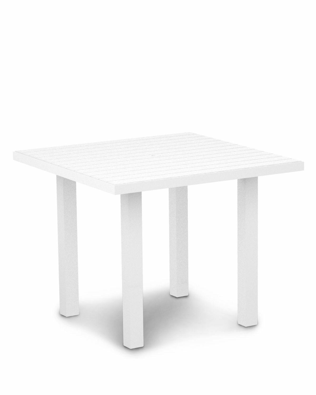 Euro Dining Table Finish: Textured White Aluminum Frame / White