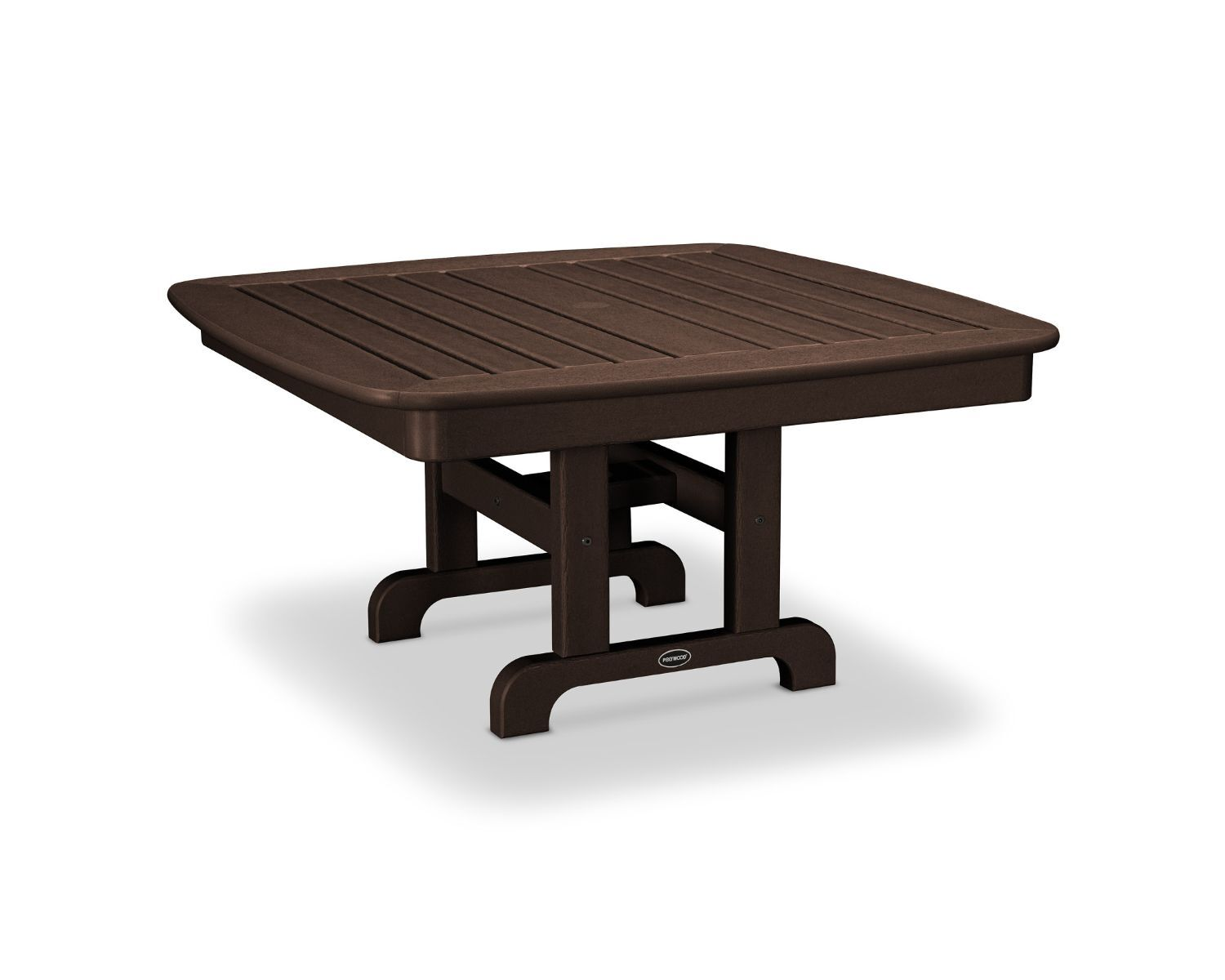 Nautical Chat Table Finish: Mahogany, Table Size: 44