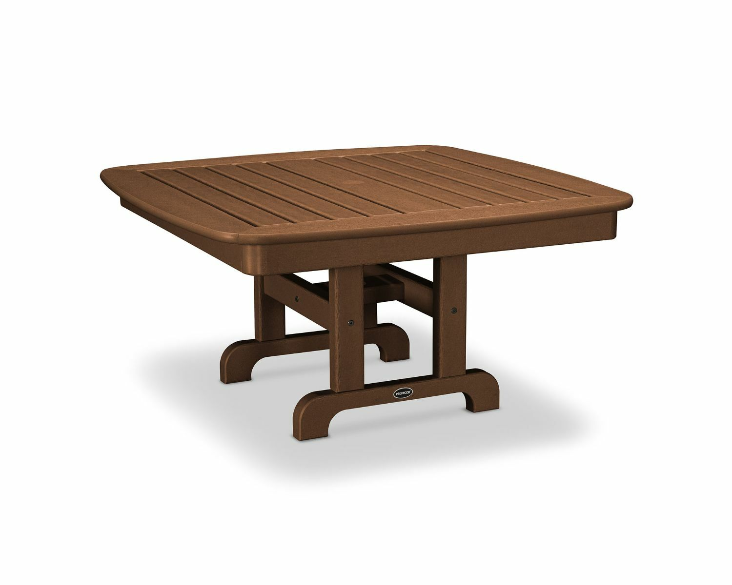Nautical Chat Table Finish: Teak, Table Size: 44