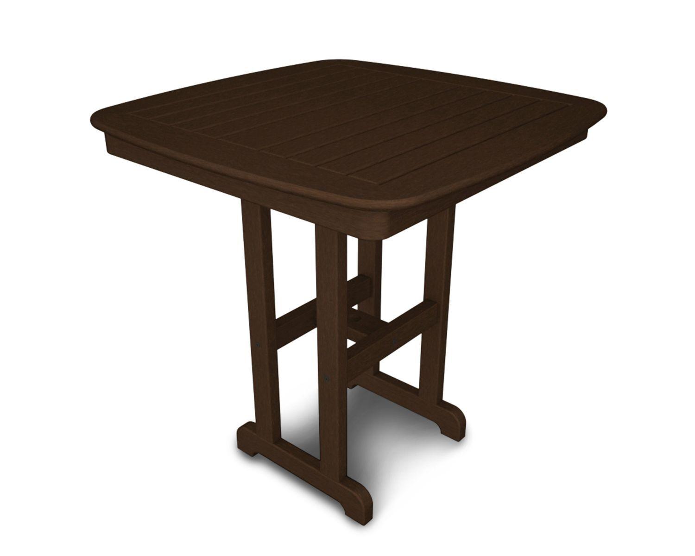 Nautical Bar Table Finish: Mahogany, Table Size: 37