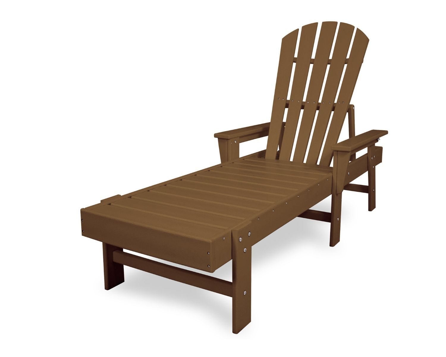 South Beach Chaise Lounge Finish: Teak