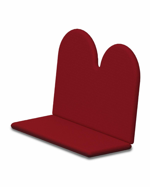 Indoor/Outdoor Sunbrella Bench Cushion Fabric: Logo Red