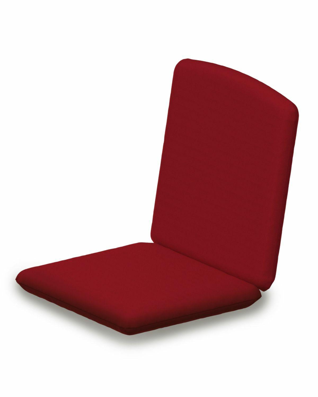 Indoor/Outdoor Sunbrella Dining Chair Cushion Fabric: Logo Red