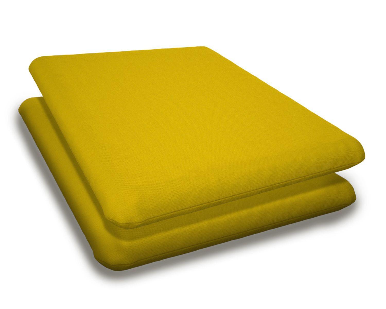 Indoor/Outdoor Sunbrella Adirondack Chair Cushion Fabric: Sunflower Yellow