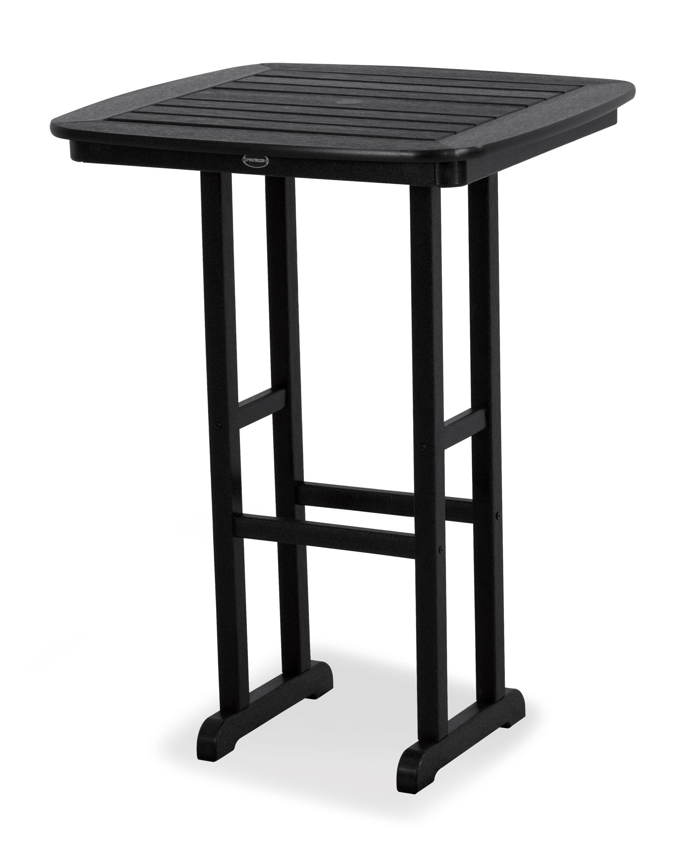 Nautical Bar Table Finish: Black