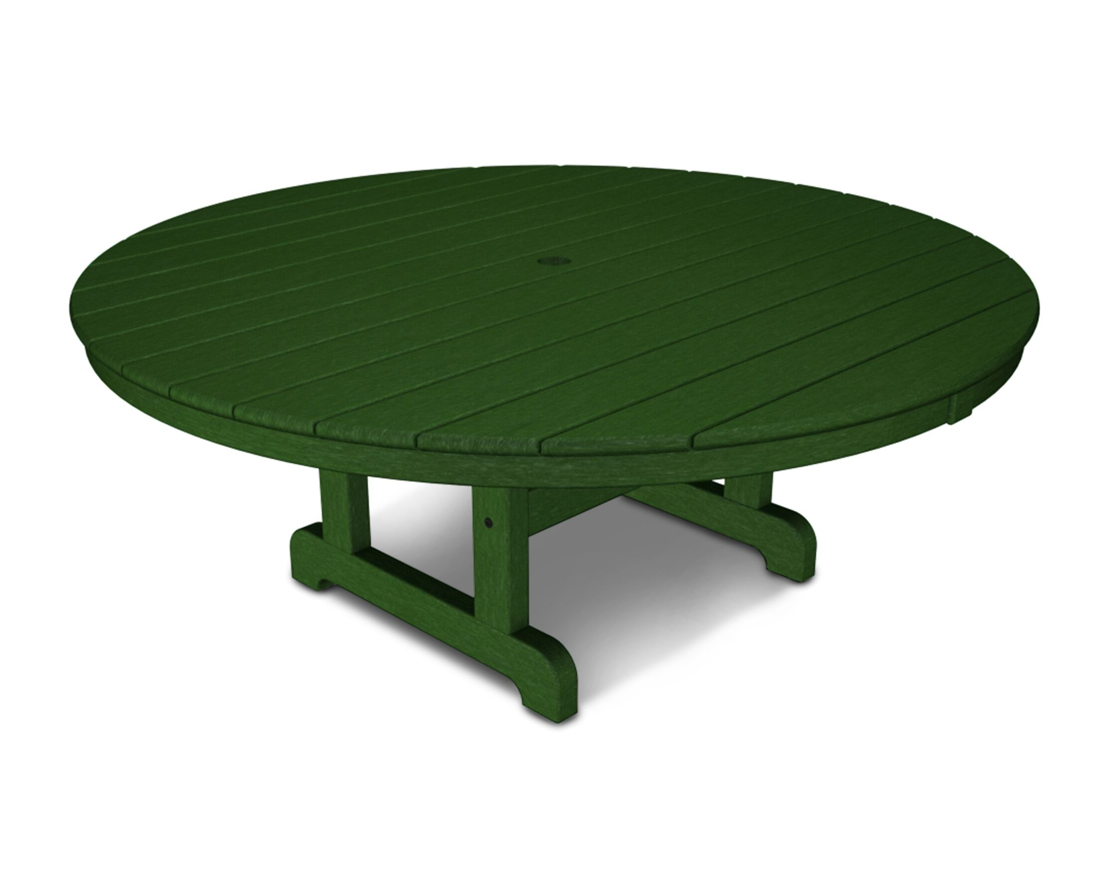 Round Conversation Coffee Table Finish: Green, Table Size: 48