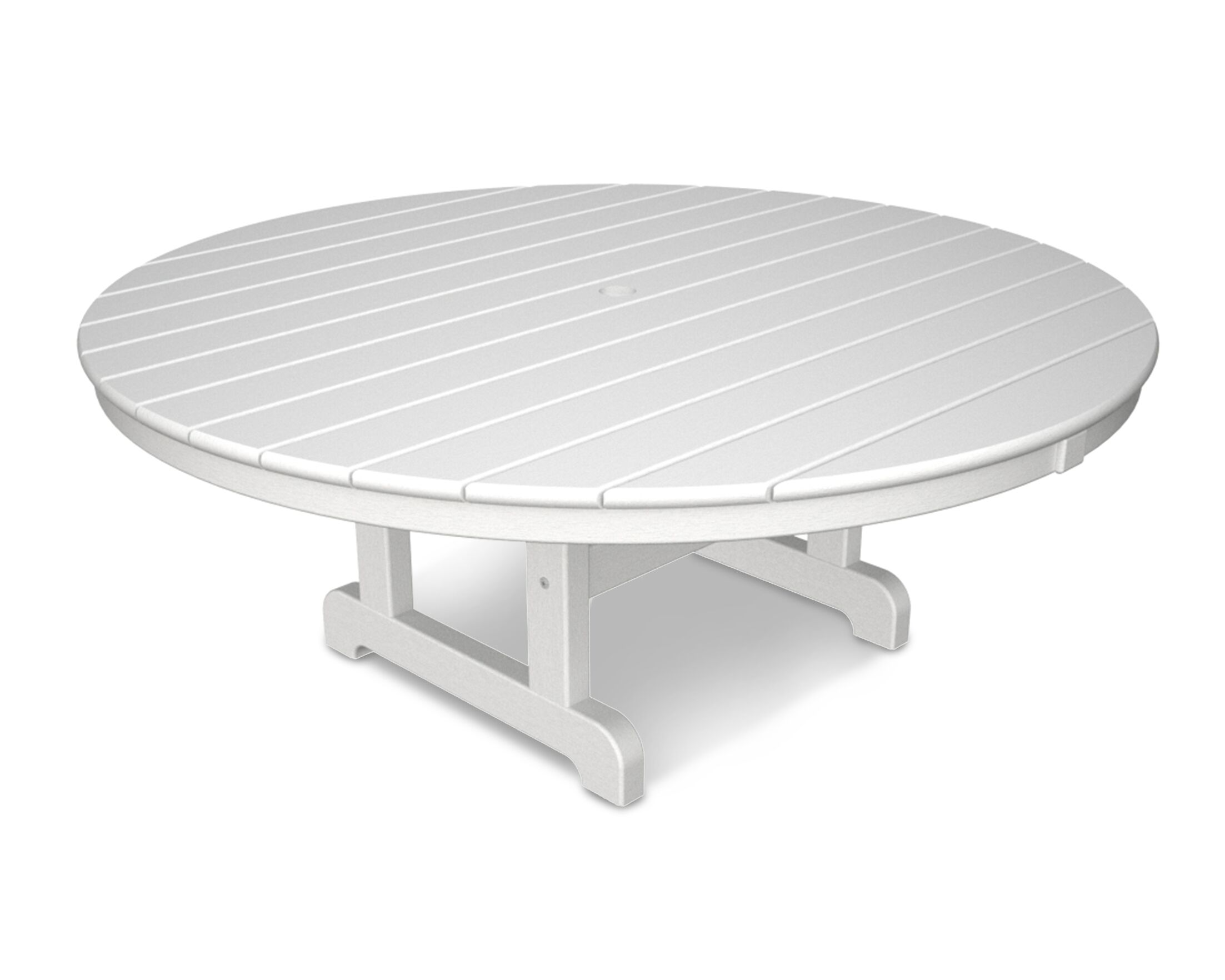 Round Conversation Coffee Table Finish: White, Table Size: 36