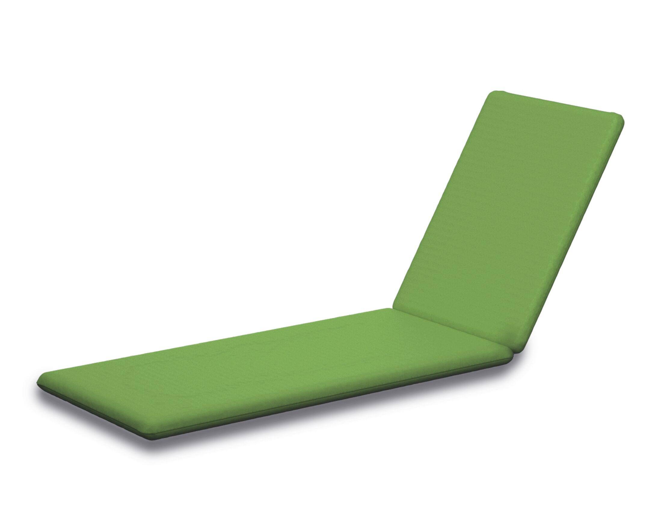 Indoor/Outdoor Sunbrella Chaise Lounge Cushion Fabric: Ginkgo