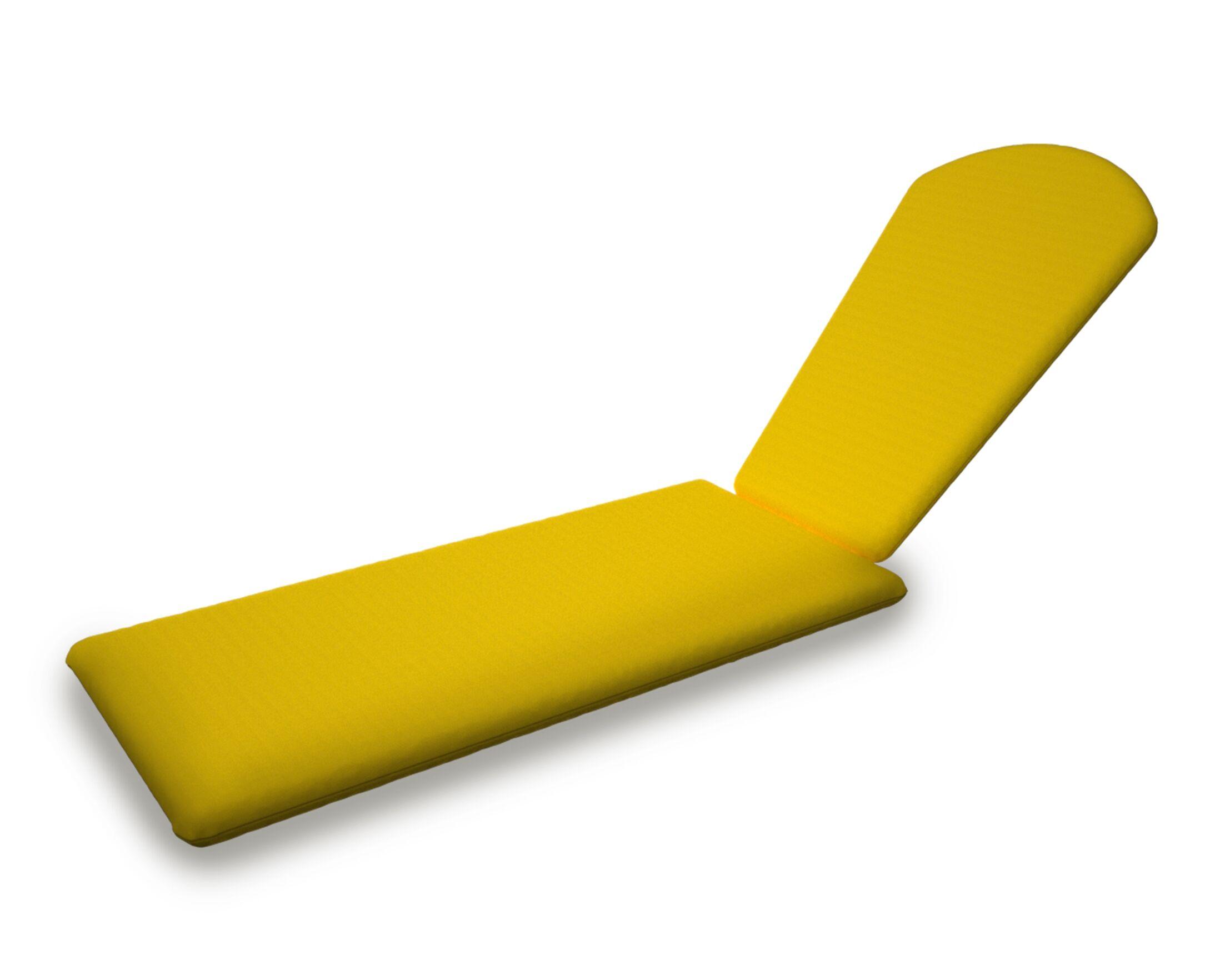 Indoor/Outdoor Sunbrella Chaise Lounge Cushion Fabric: Sunflower Yellow