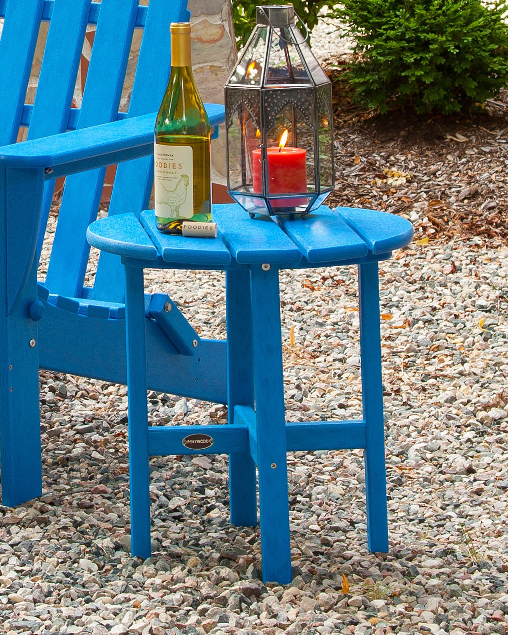 Side Table Finish: Pacific Blue