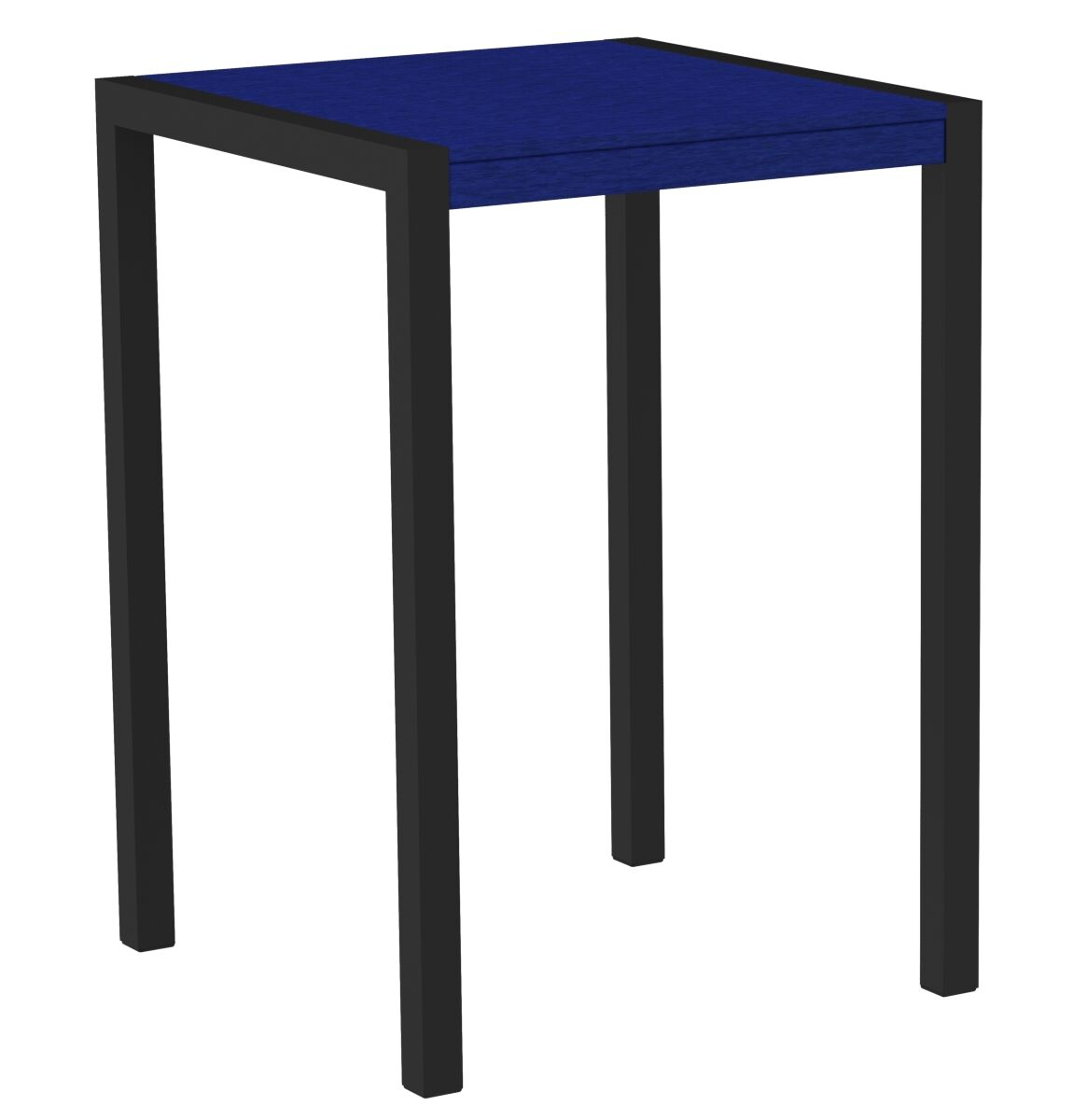 Mod Bar Table Base Finish: Textured Black, Top Finish: Pacific Blue