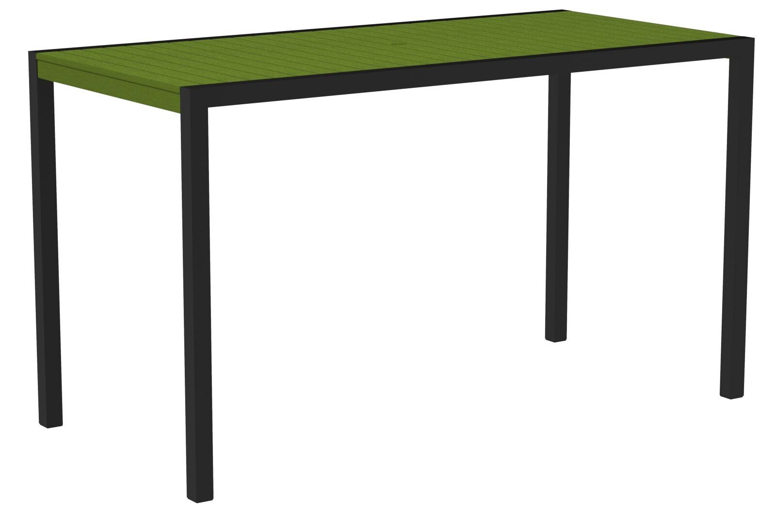 Mod Bar Table Top Finish: Lime, Base Finish: Textured Black