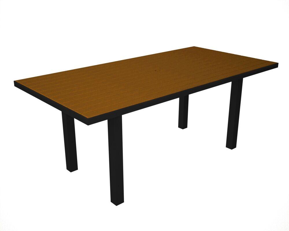 Euro Dining Table Table Finish: Black / Teak