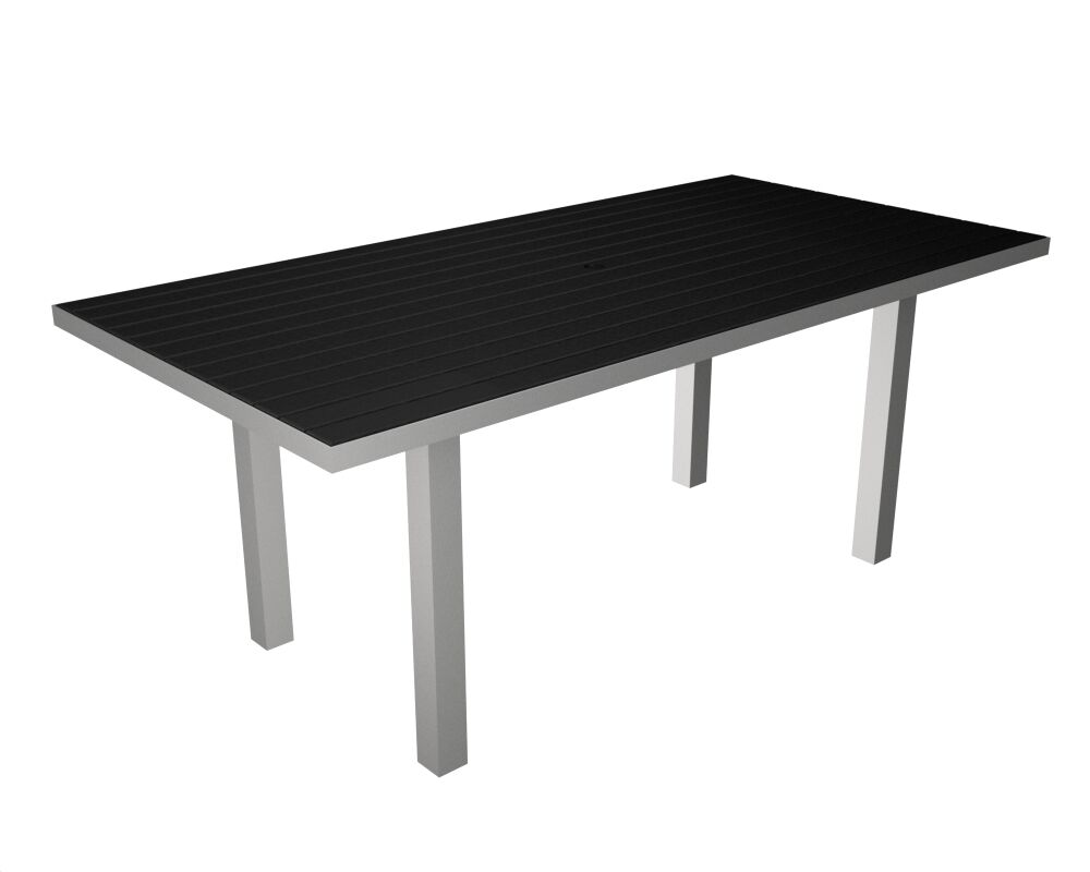 Euro Dining Table Table Finish: Silver / Black