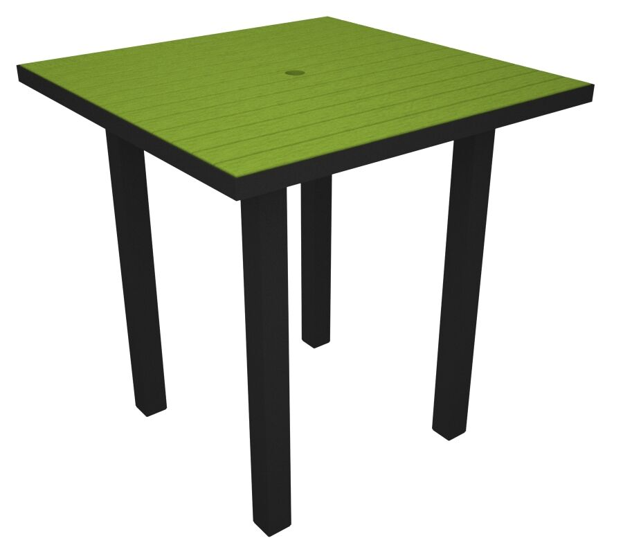 Euro Side Table Base Finish: Textured Black, Top Finish: Lime