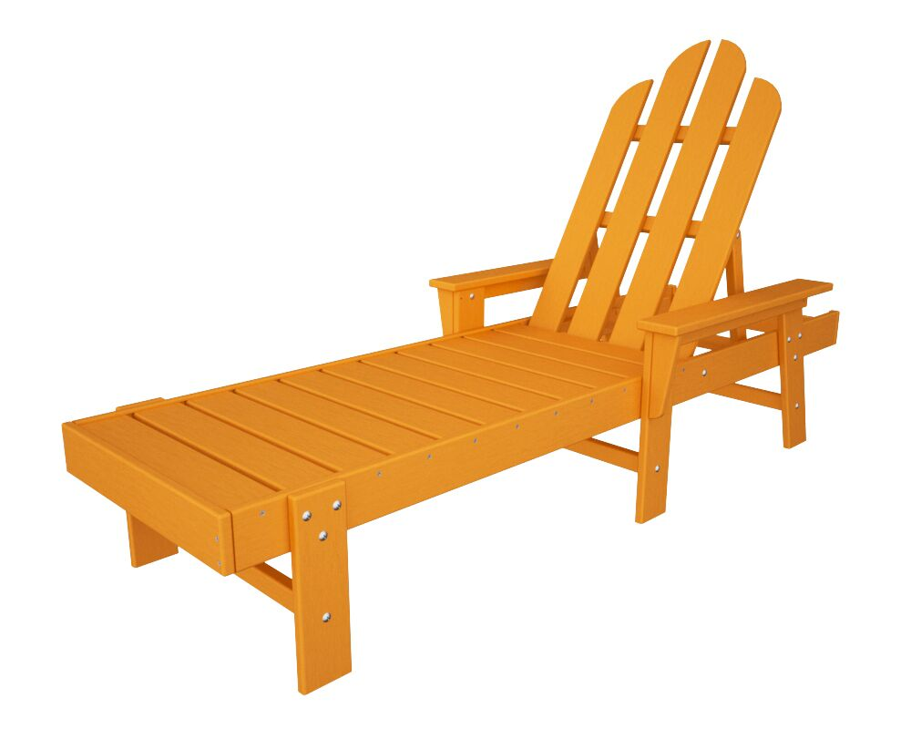 Long Island Chaise Lounge Finish: Tangerine