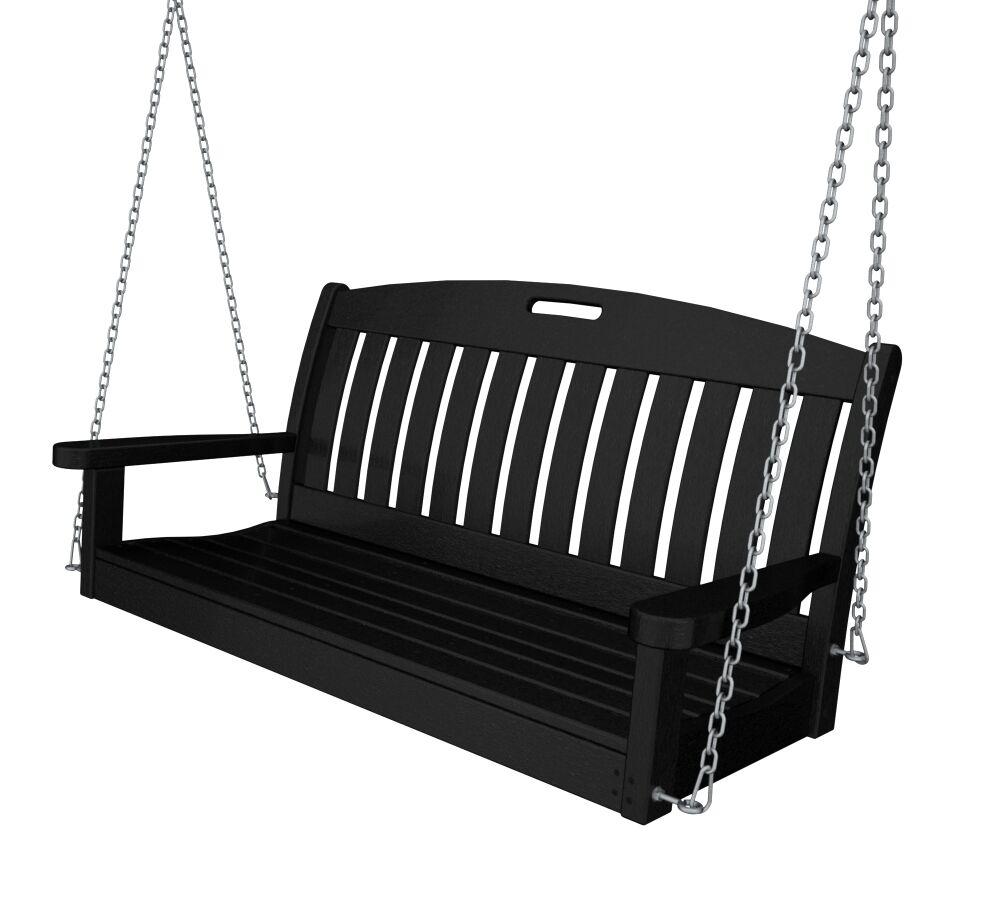 Nautical Porch Swing Finish: Black