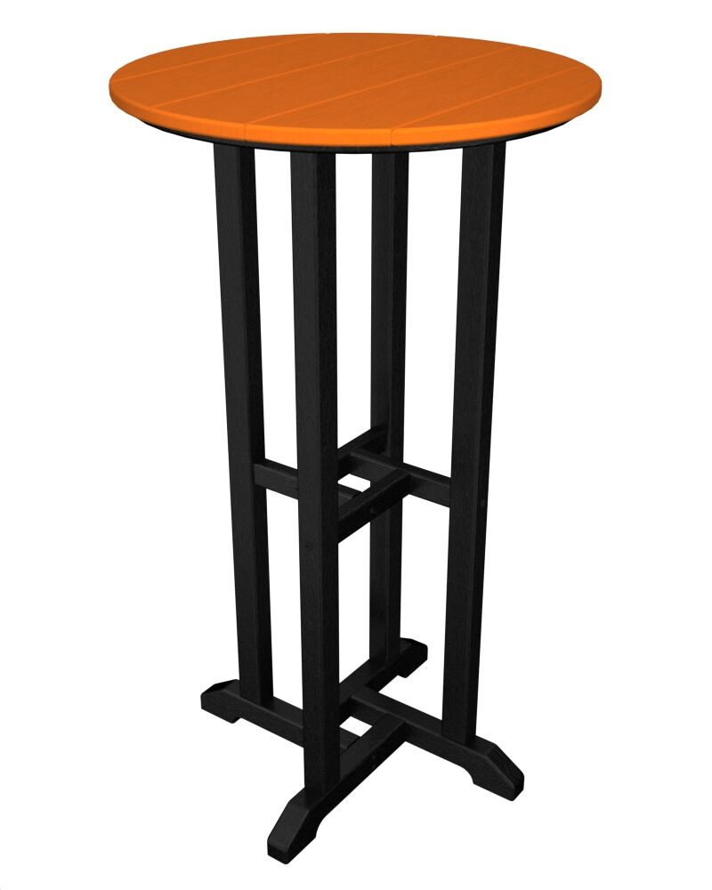 Contempo Bar Table Finish: Black & Tangerine