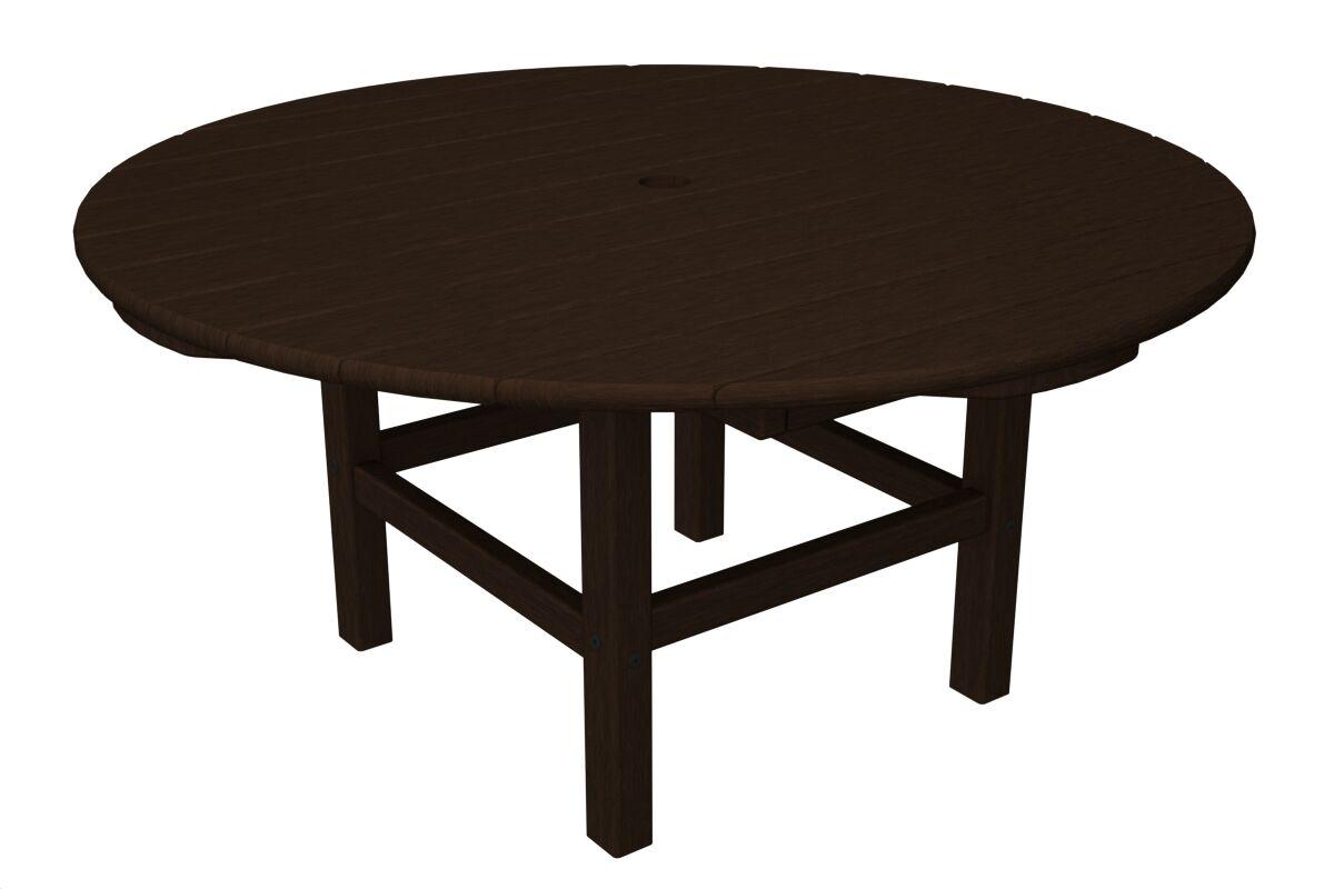 Round Conversation Table Finish: Mahogany