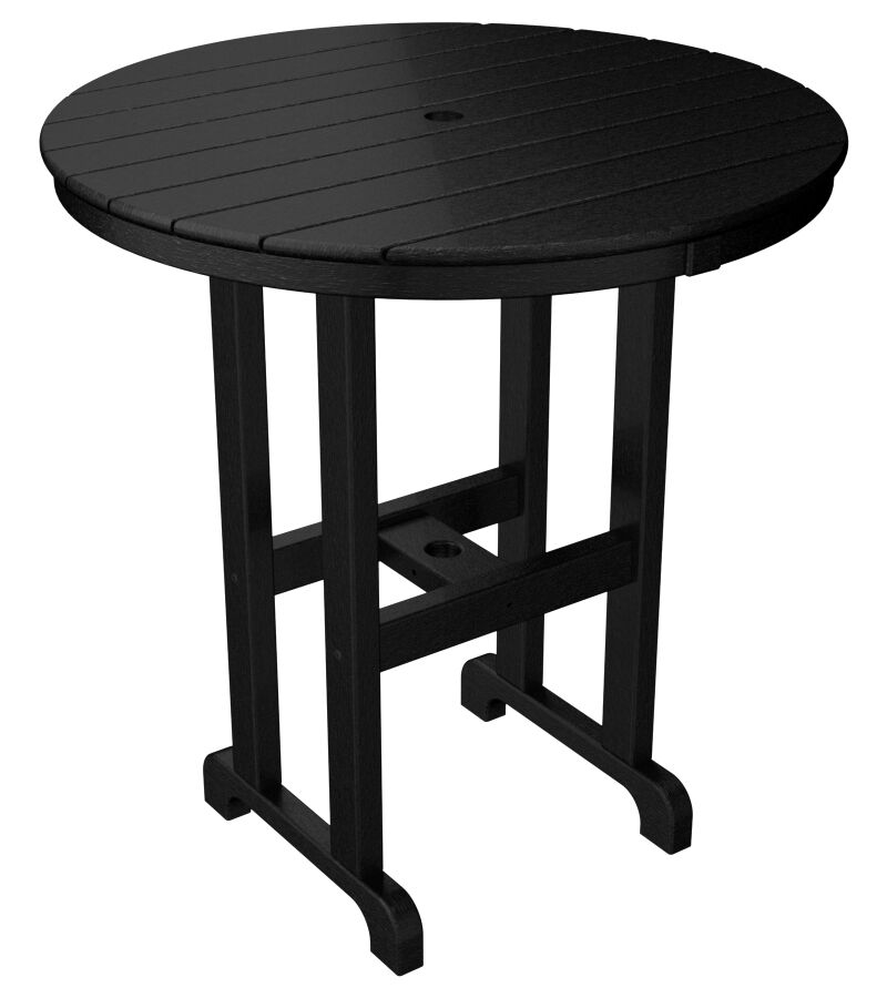 La Casa Caf� Bistro Table Finish: Black, Table Size: 36