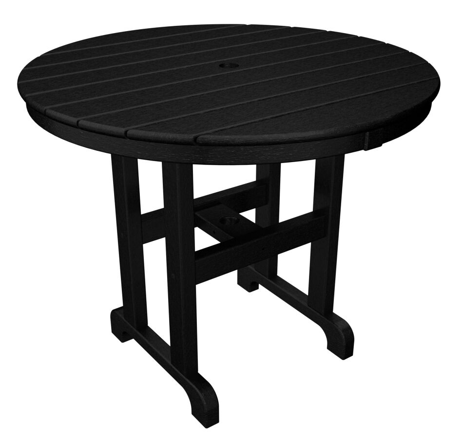 Round Dining Table Finish: Black, Table Size: 36