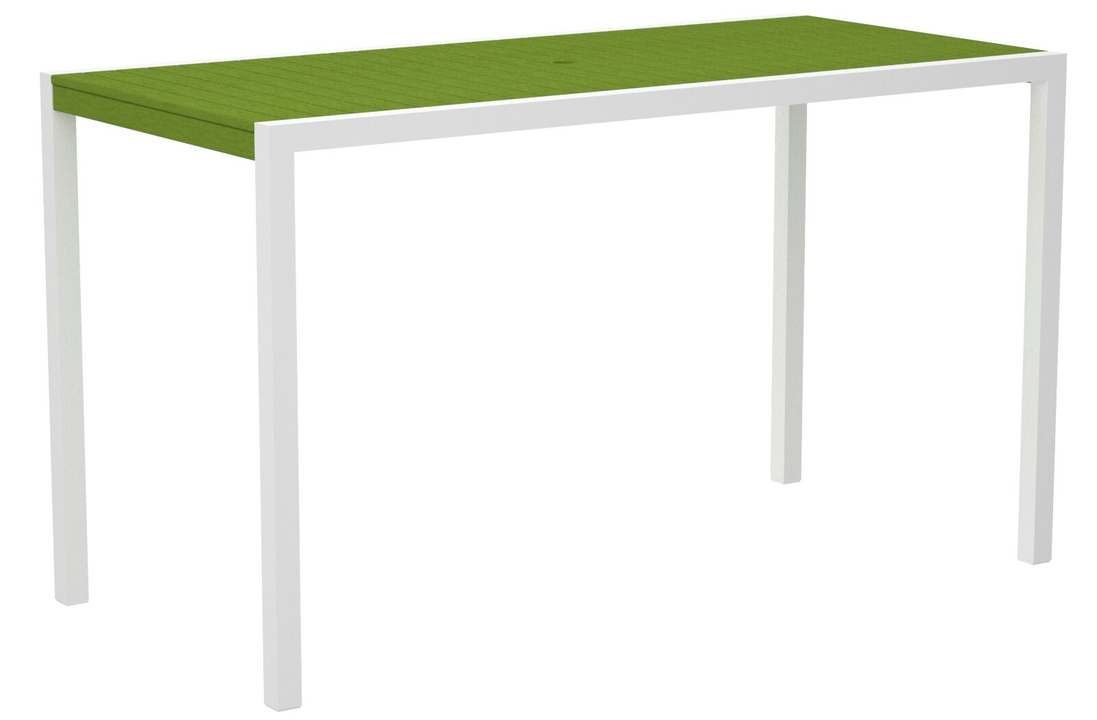 Mod Bar Table Top Finish: Lime, Base Finish: Textured White