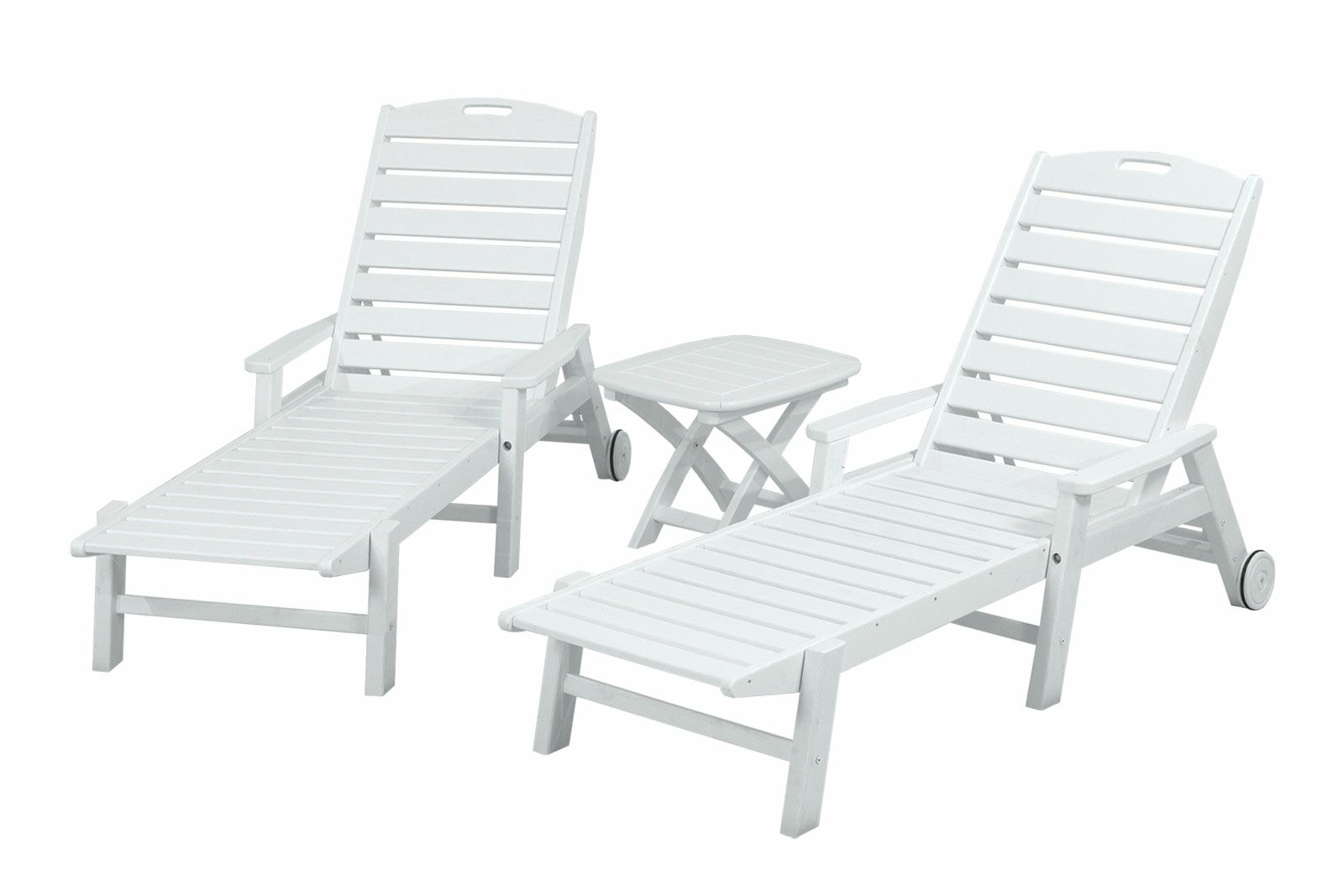 Nautical 3 Piece Chaise Set Finish: White