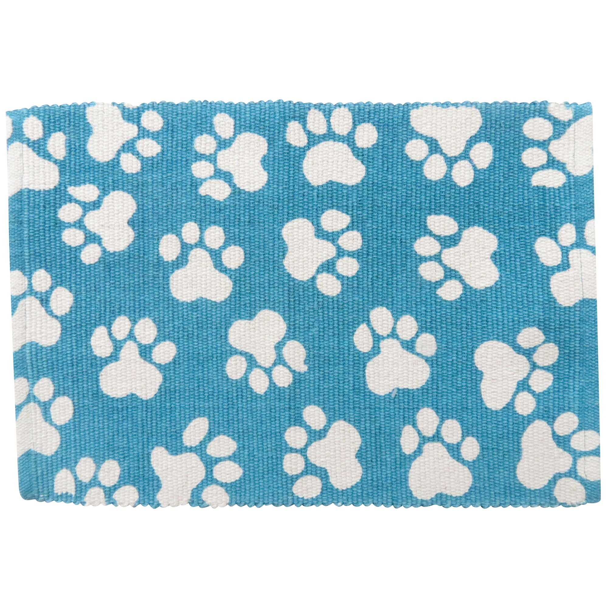 Isabella World Paws Cotton Pet Mat Color: Tropical Blue, Size: 30