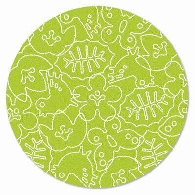 Season Lotus Green/White Area Rug Rug Size: Round 6'