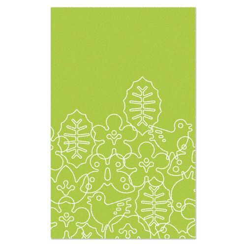 Season Lotus Green/White Area Rug Rug Size: Rectangle 5' x 8'