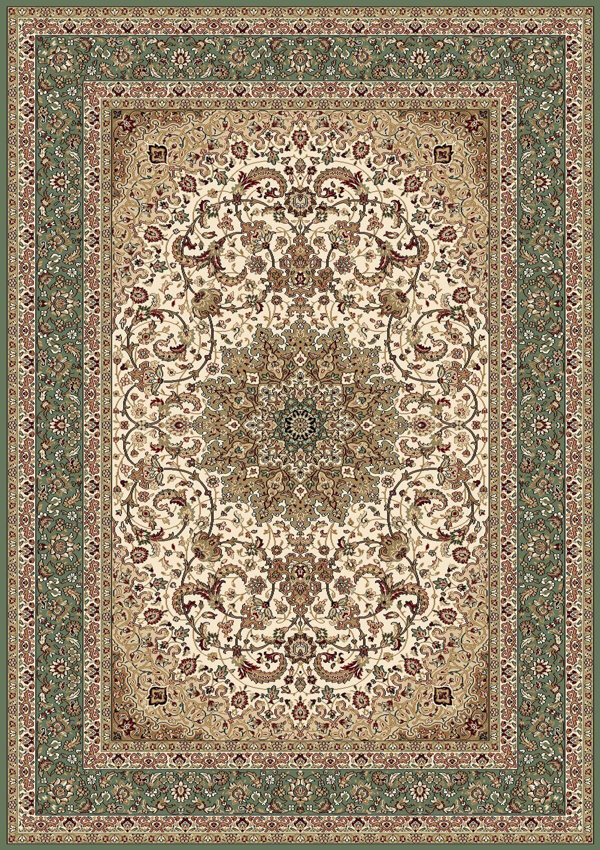 Regency Ivory/Green Area Rug Rug Size: Rectangle 8' x 10'2