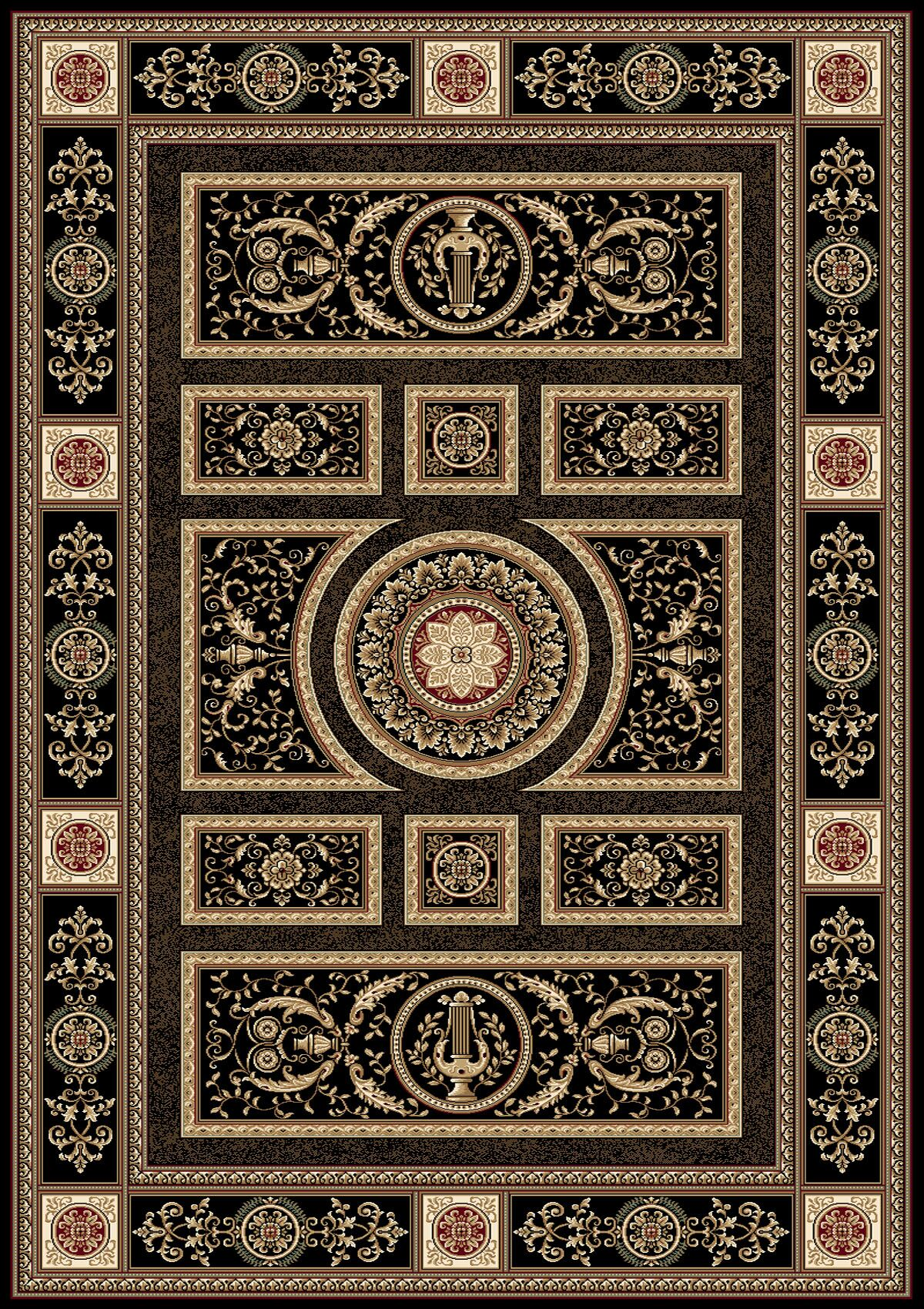 Regency Black Area Rug Rug Size: Rectangle 3'9