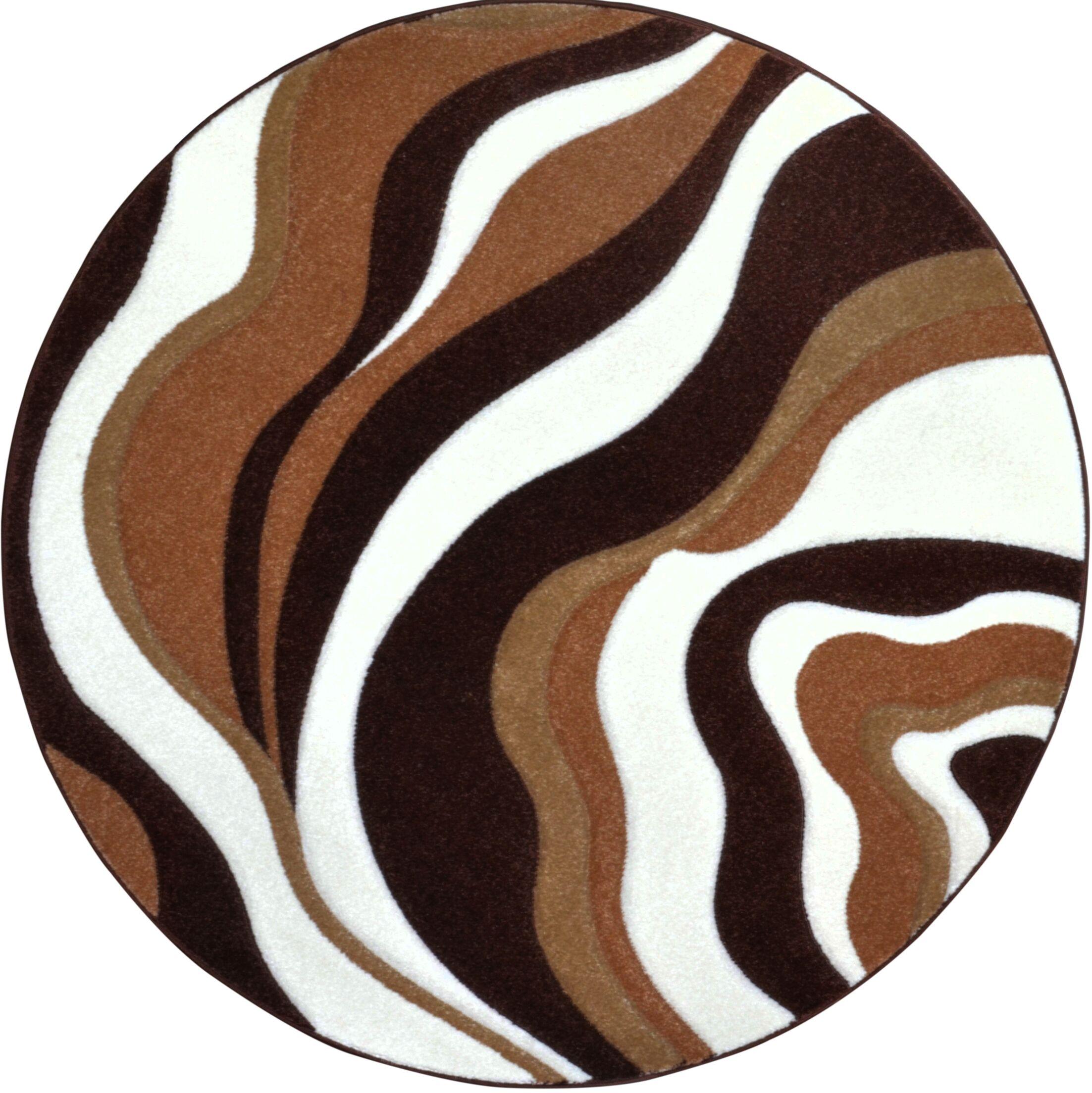 Sumatra Waves Area Rug Rug Size: Round 7'10