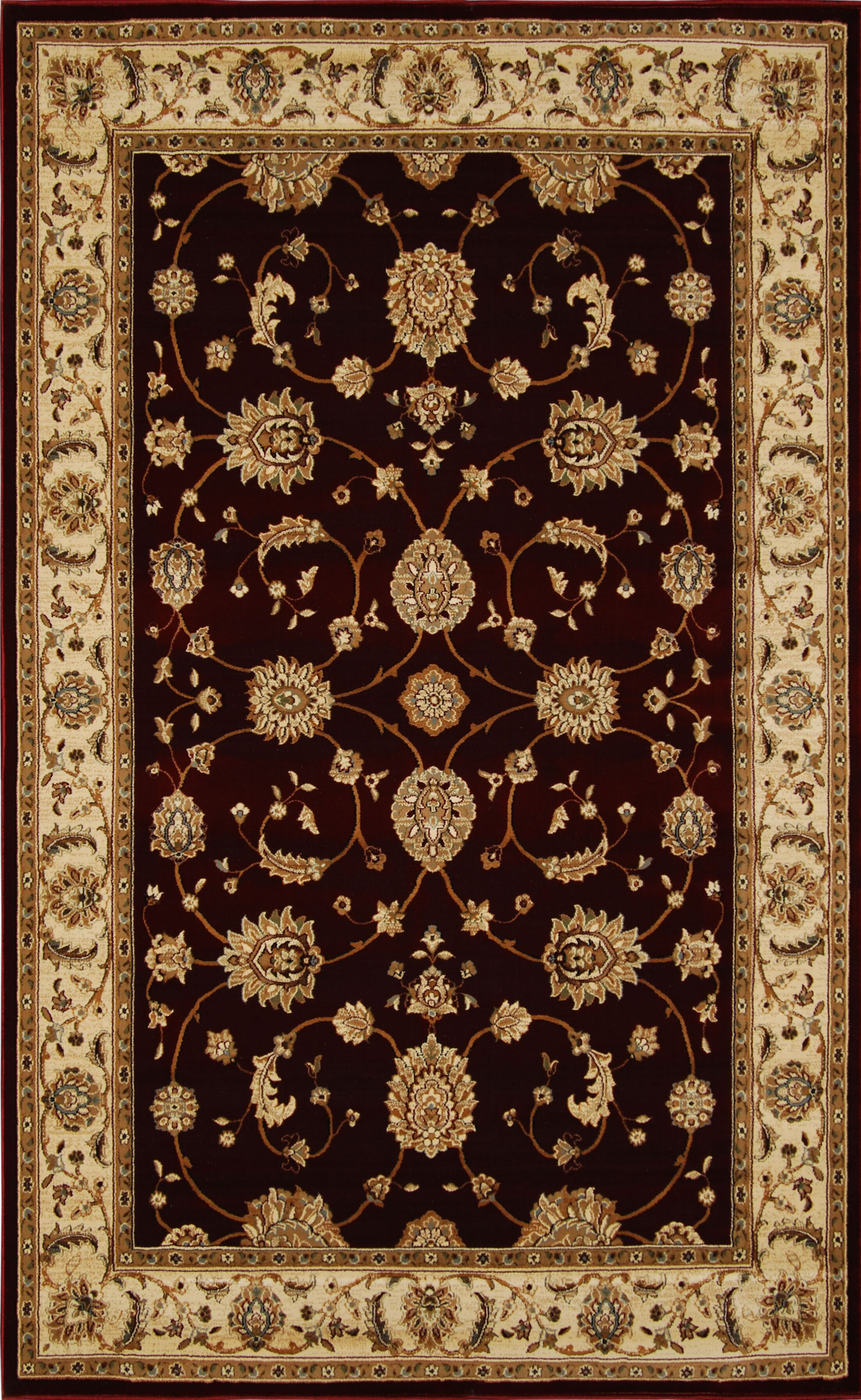 Triumph Red Area Rug Rug Size: Rectangle 7'8