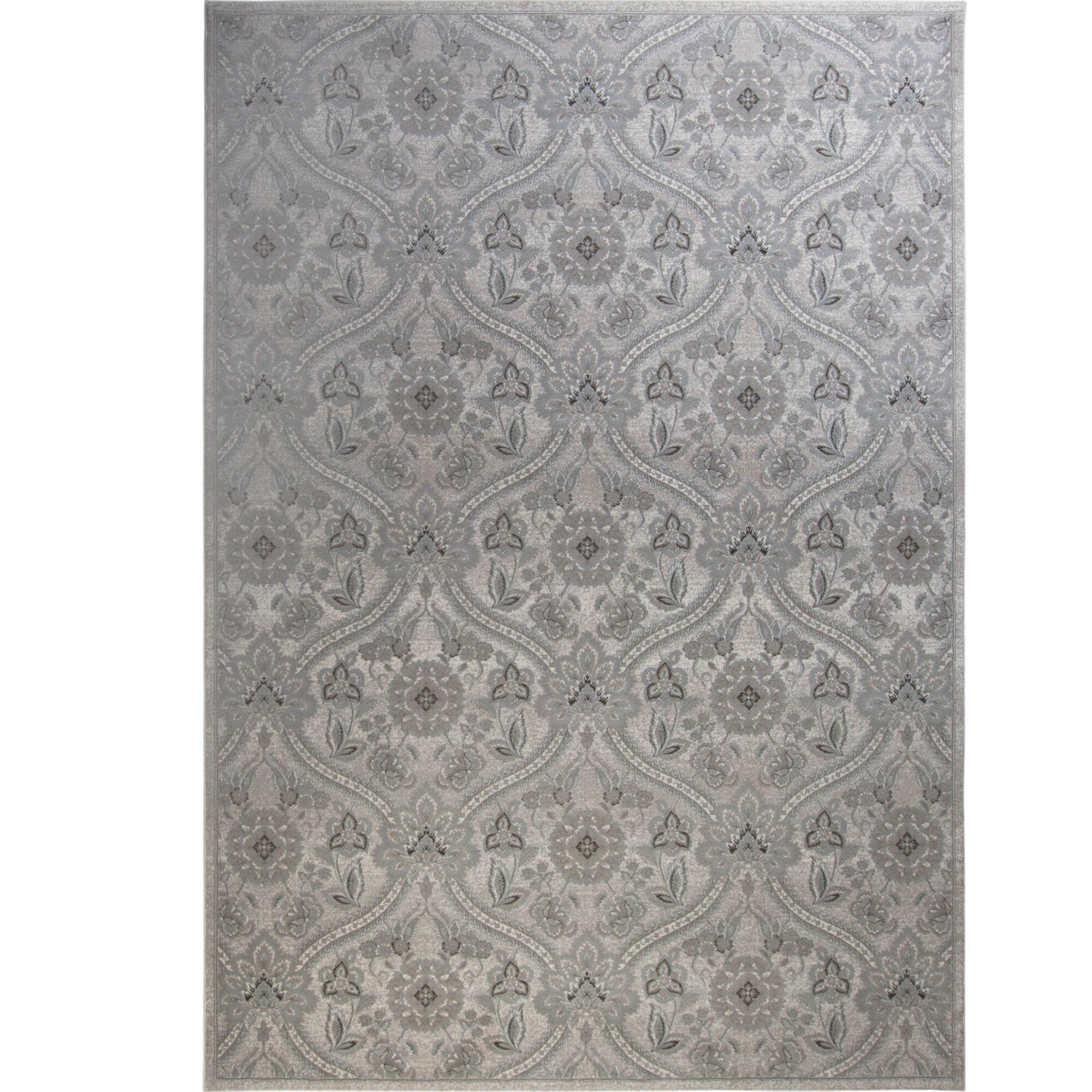 Kayo Damask Ivory Area Rug Rug Size: Rectangle 7'9