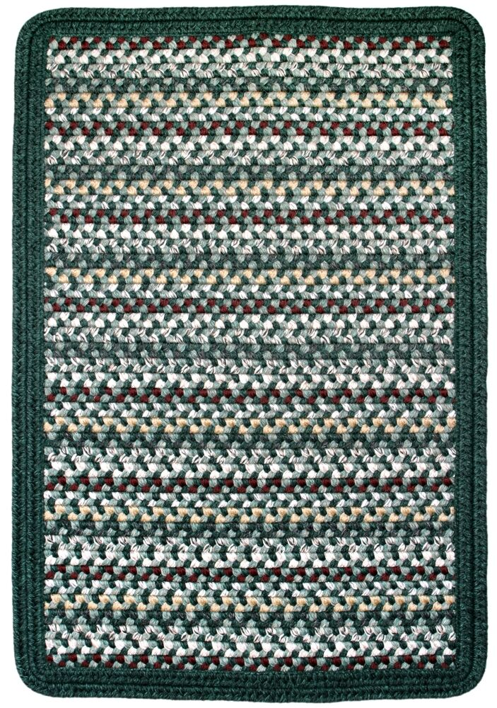 Vineyard Haven Green Meadows/Solid Dark Green Indoor/Outdoor Area Rug Rug Size: Rectangle 8'6' x 11'6