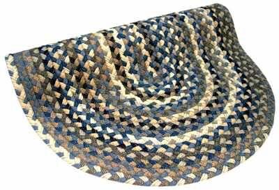 Beacon Hill Denim Round Grey/Tan Area Rug Rug Size: Round 9'