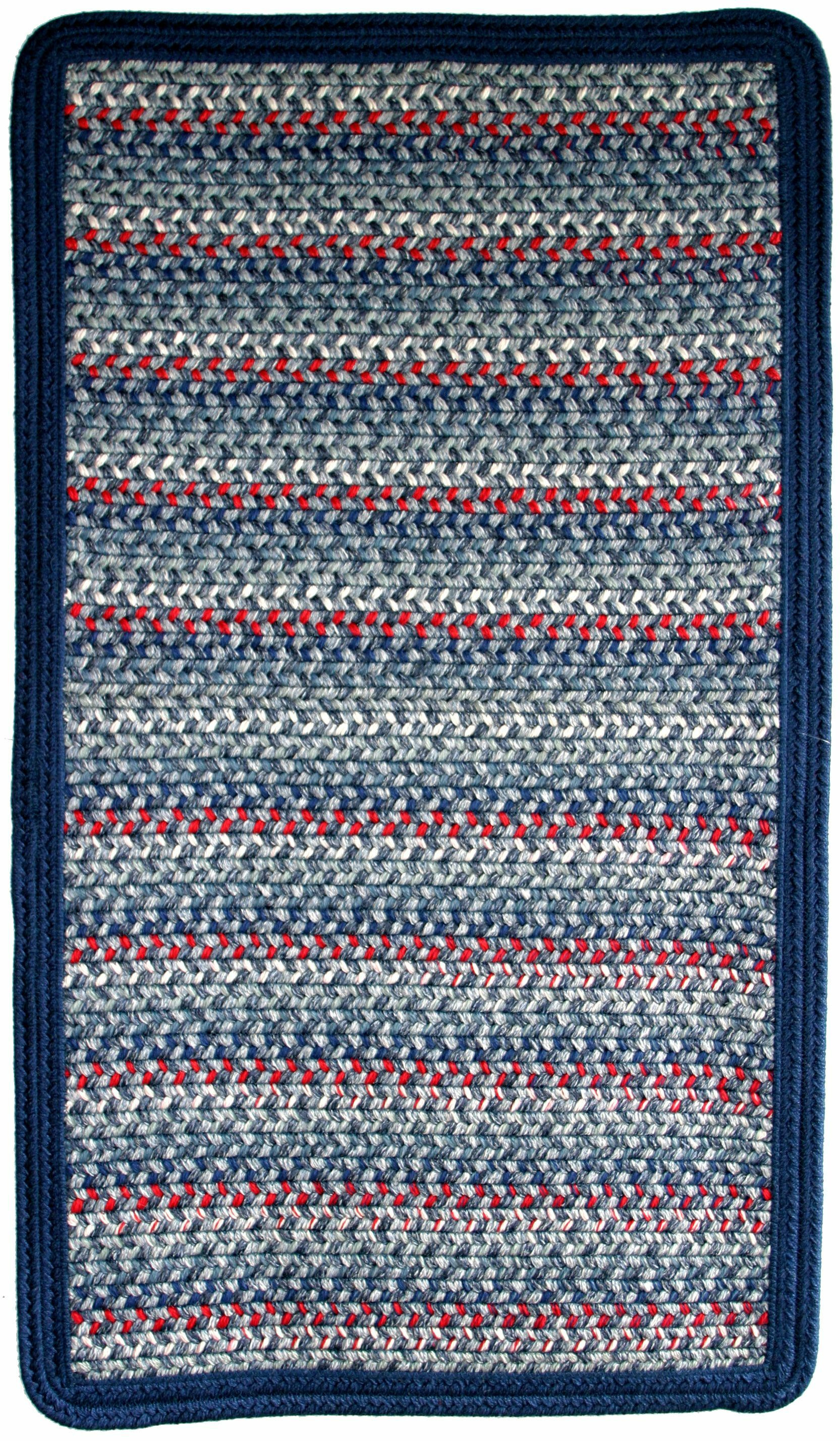 Pioneer Valley II Olympic Blue with Dark Blue Solids Multi Square Rug Rug Size: Square 10'