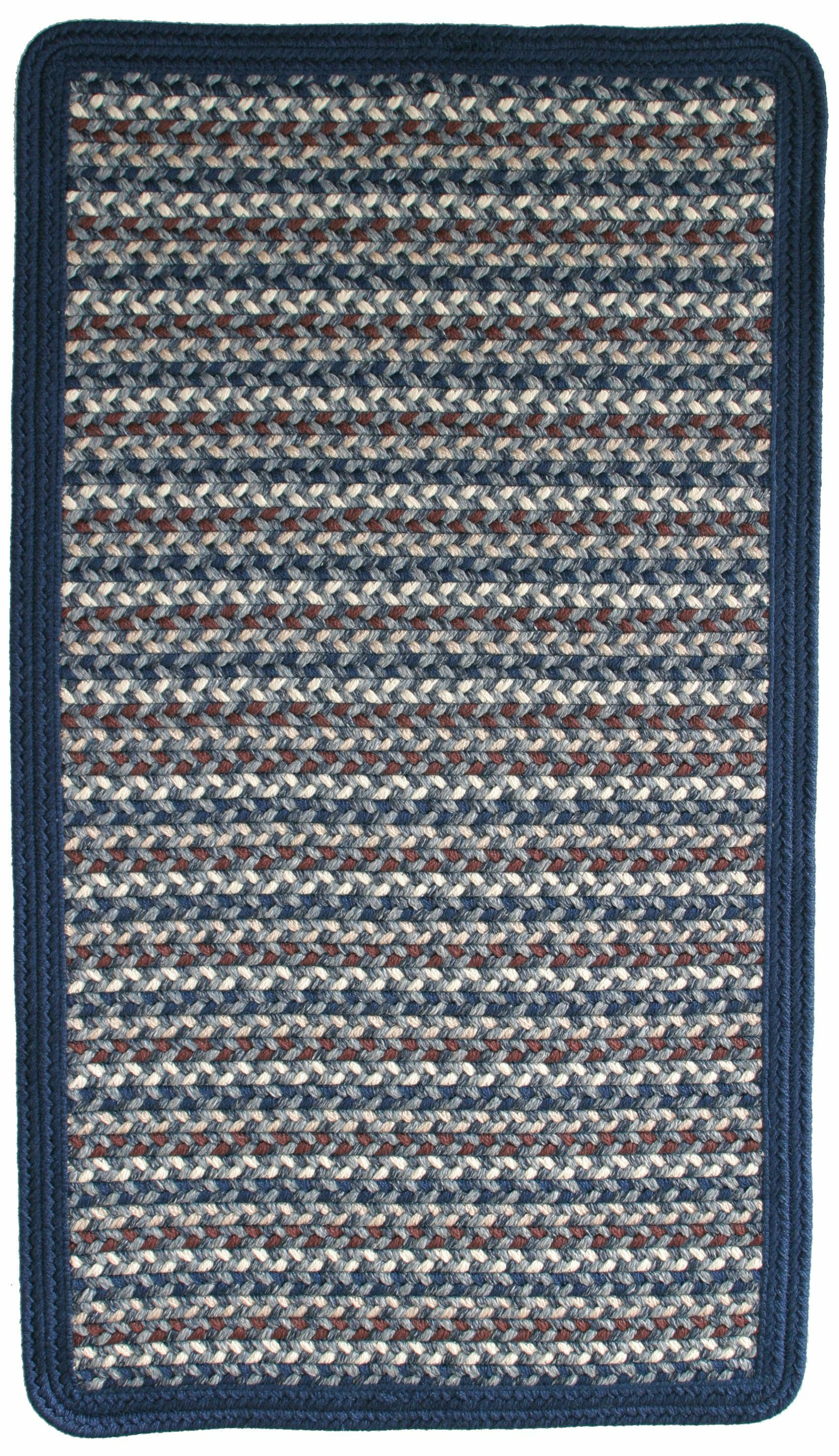 Green Mountain Lake Champlain Blue Area Rug Rug Size: Square 4'