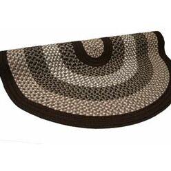Green Mountain Fudge Brown Stripes Area Rug Rug Size: Round 6'